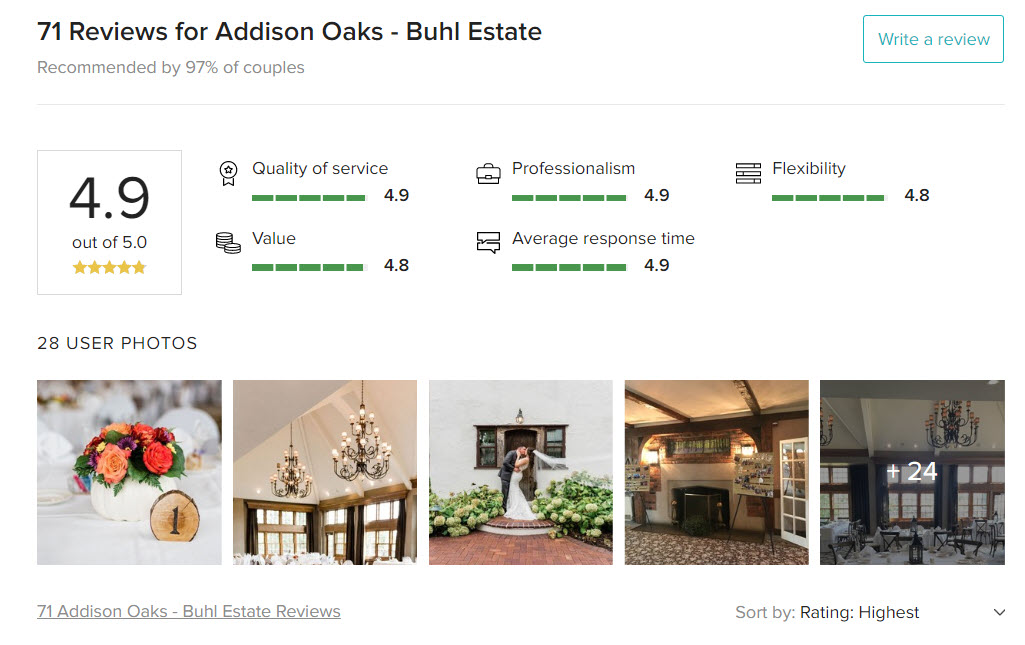 Addison Oaks Top Rated Wedding Venue